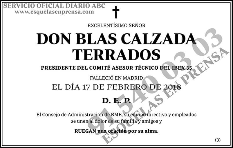 Blas Calzada Terrados